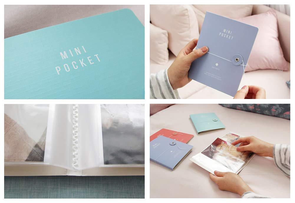 There's Mini Pocket Photo Album Pack of 4, Each Mini Photo Album Holds Up to 40 4x6 Photos, Photo Album Memory Book, 20 Page 4 x 6'' Photos, 5.1'' x 0.3 x 6.4'', (Pack of 4) by There's (Image #5)