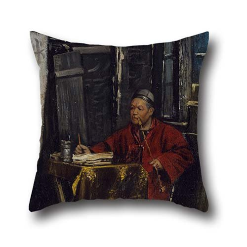 Throw Pillow Covers Of Oil Painting Nelson A Primus - Fortune Teller,for Car Seat,drawing Room,kids Girls,divan,gf,seat 18 X 18 Inch / 45 By 45 Cm(twice -