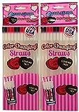Cool Change Straws (2pk) Valentine Love Me Love Me Not