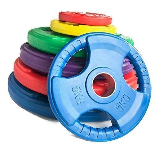 Body Revolution Gummi olympische Tri grip Radial Gewicht Platten Gusseisen Discs für 2