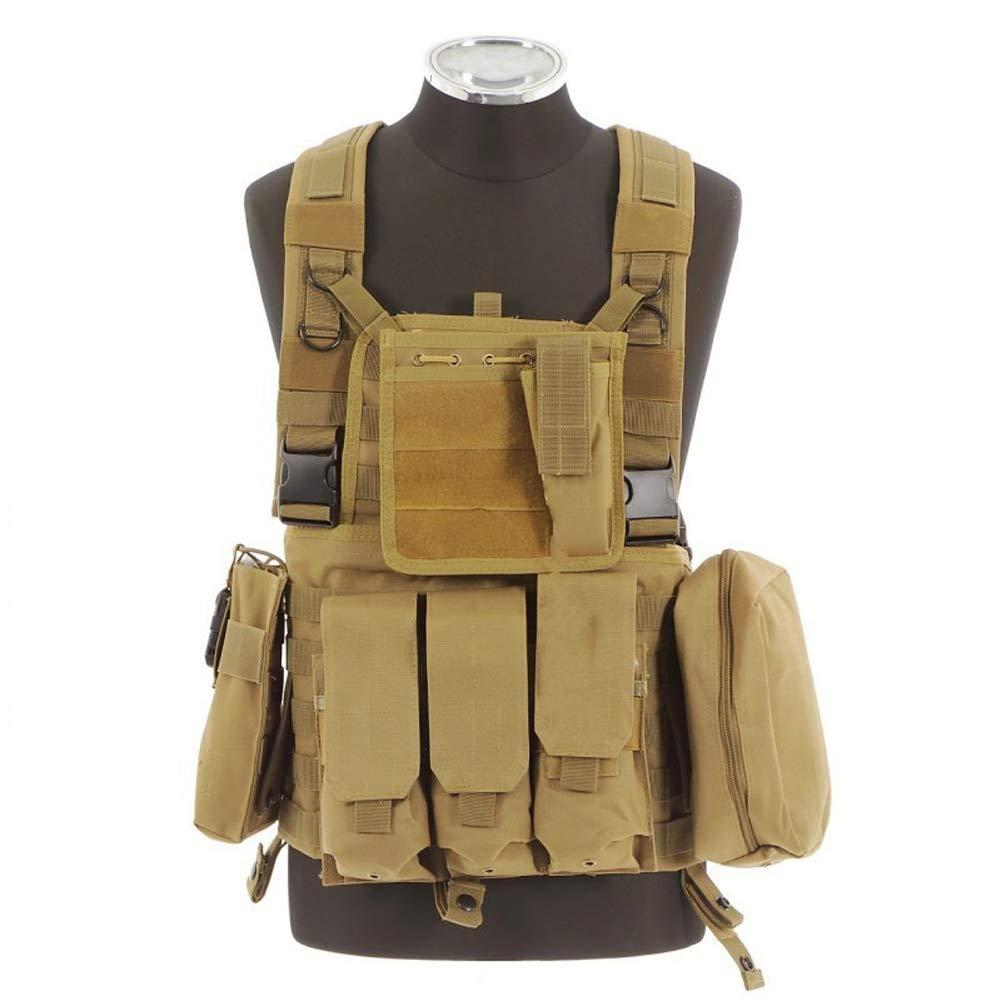 LXY&AI Erwachsene Taktische Weste - Cs Field Dedicated Vest - Abnehmbare Tasche Outdoor Jungle Combat Vest - Khaki