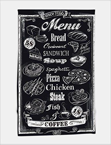 Minicoso Bath Towel hand drawn chalkboard menu 194951270 For Spa Beach Pool - Menu Hut Beach