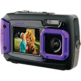 underwater camera coleman - Coleman Duo2 2V9WP-P 20 MP Waterproof Digital Camera with Dual LCD Screen (Purple)