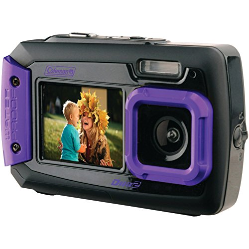 Coleman Duo2 2V9WP-P 20 MP Waterproof Digital Camera with Dual LCD Screen (Purple) by Coleman