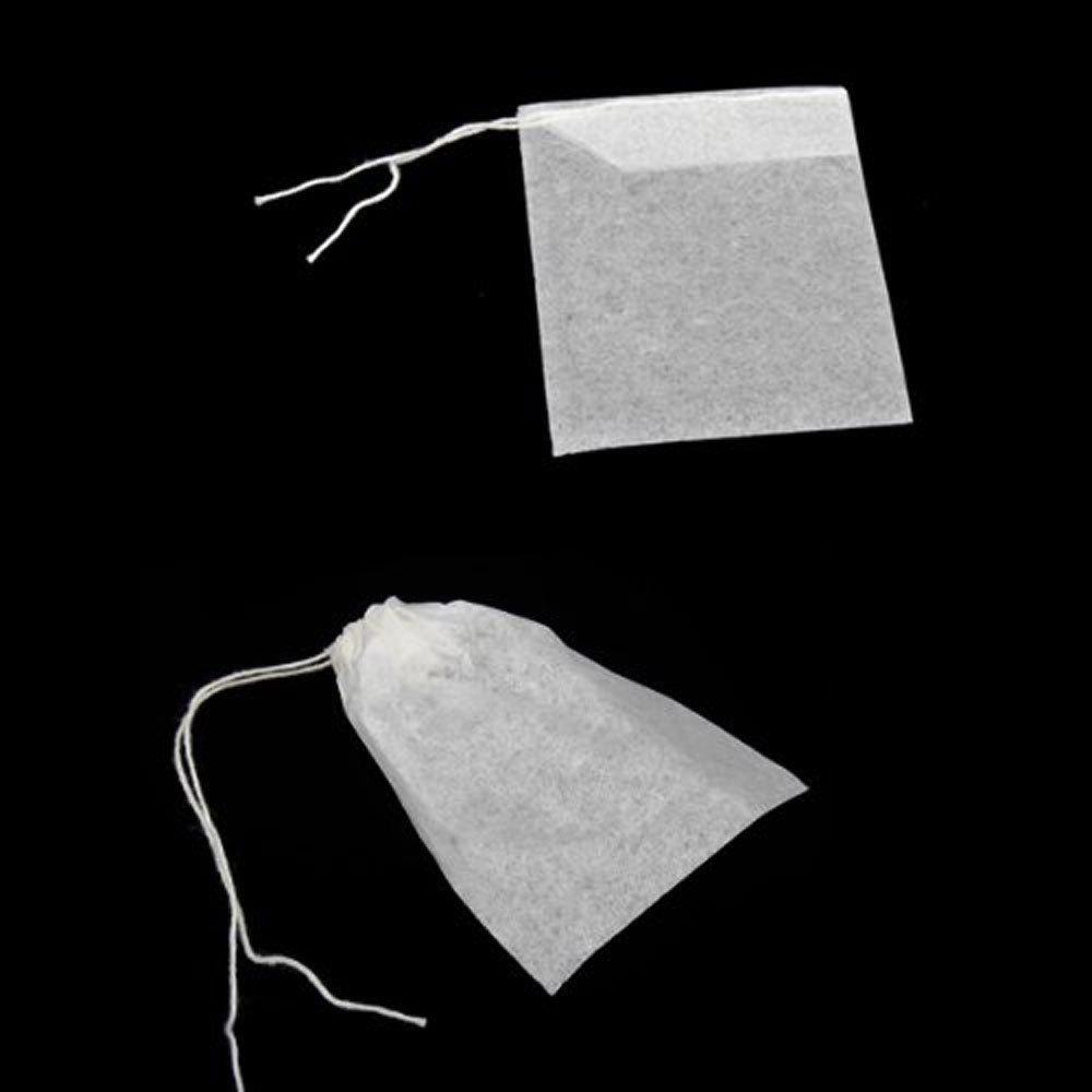 M Tamano Bolsas de Papel del Filtro de Te de Bombeo Linea de Desechable Blanco Conjunto de 100 Bolsas de filtro del Te R SODIAL