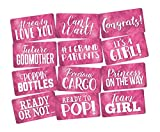 Photo Booth Props Set It's a Girl Perfect for Pink Baby Shower 6pc Double Sided