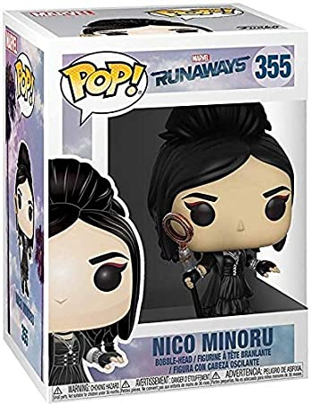 Amazon.com: Funko Pop! Marvel: Runaways - Nico Minoru Vinyl Figure (Bundled with Pop Box Protector Case): Toys & Games