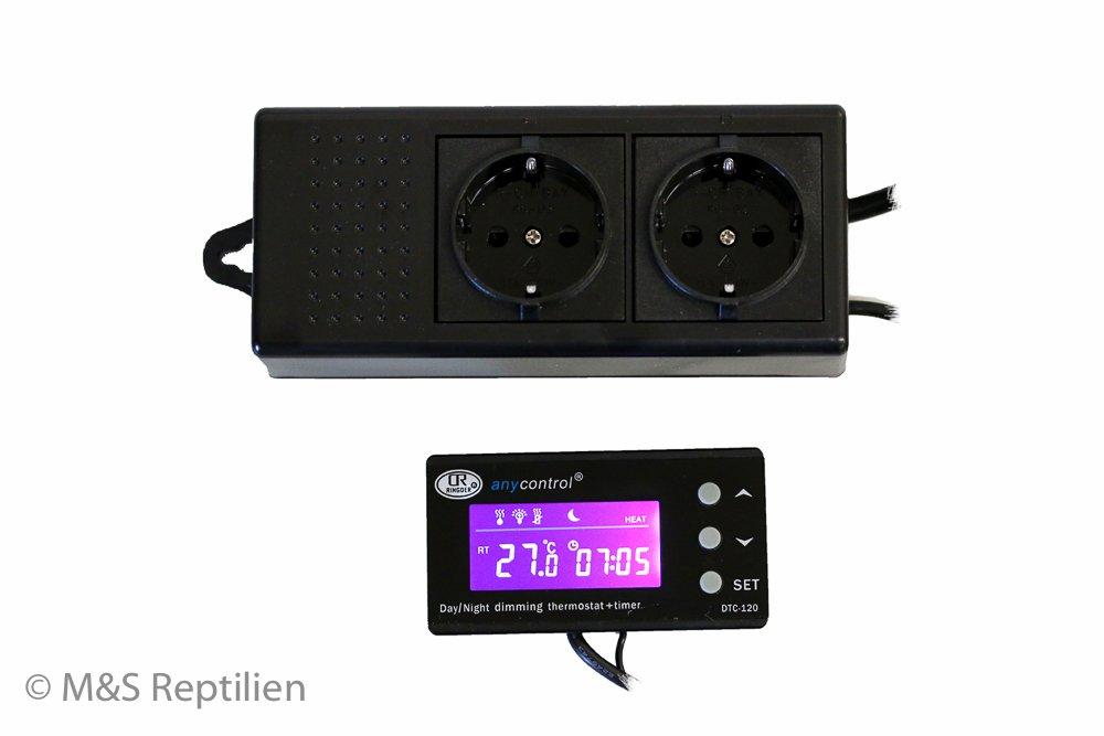 Thermostat mit Dimmung + Zeitschaltuhr M/&S Reptile Control V3 PRO Neu