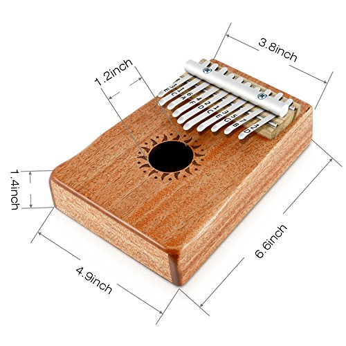 Donner 10 Key Kalimba Thumb Piano Solid Finger Piano Mahogany Body DKL-10 by Donner (Image #4)