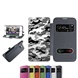 caselabdesigns Flip Carcasa Funda Camuflaje urbana para Sony Xperia Z3D6683negro–Funda protectora plegable de negro