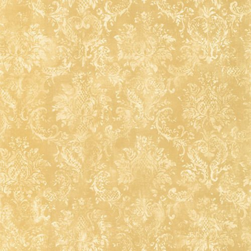 (Norwall SD25655 Canvas Damask Prepasted Wallpaper, Yellow, Cream)