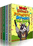 Books for Childrens: Wally Raccoon's 4-Book Collection (funny books for kids age 2-6 )