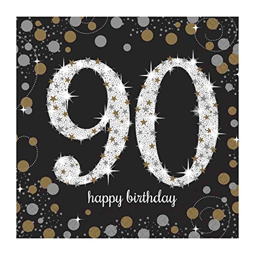 90th Birthday Party Paper Napkins | Age 90 Party (90th Birthday Napkins)