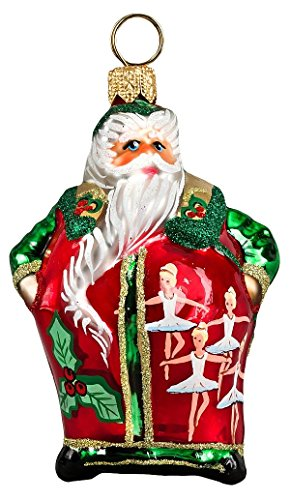 Joy to the World - Glitterazzi Mini 12 Days of Christmas - Nine Ladies Dancing - Blown Glass Ornament