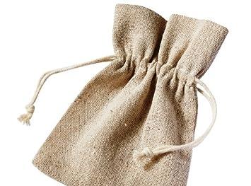 Amazon.com: Cranberry Card Company 1 x lino bolsa de cordón ...