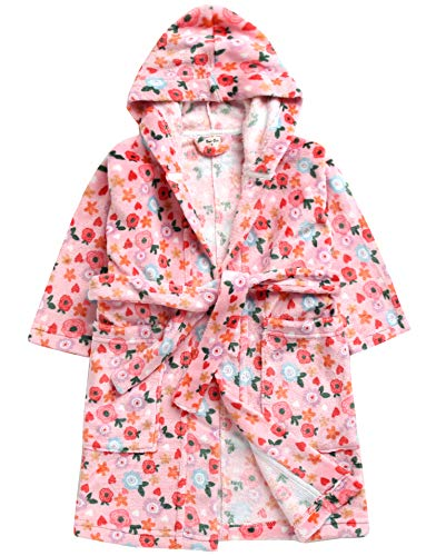 Vaenait Baby Ultra Soft Plush Fleece Light Weight Kids Toddler Girls Hooded Swim Suit Cover-up Beach