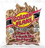 Golden Flake Pork Cracklins W/Red Pepper Seasoning 3.50 oz (Pack 4)