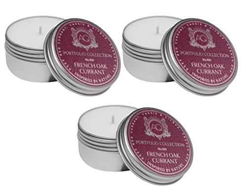 Aquiesse Travel Tin French Oak Currant 2 Oz - 3 Pack by Aquiesse