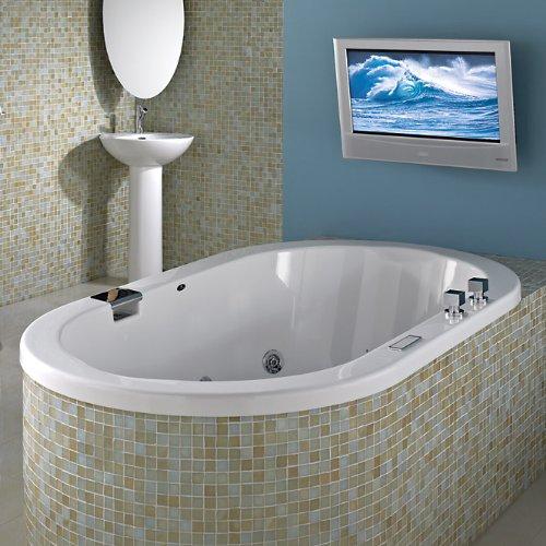 Neptune Tao Oval Activ Air x Mass Air Bath 71 3/4 x 41 1/4 x 25 TAO4272CMA White