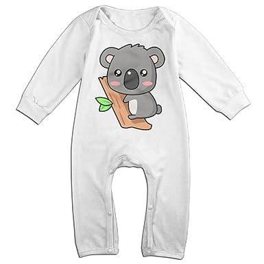 ZhoYHHeng Cute Koala NewBorn Long Sleeve Baby Climbing Clothes White 6 M