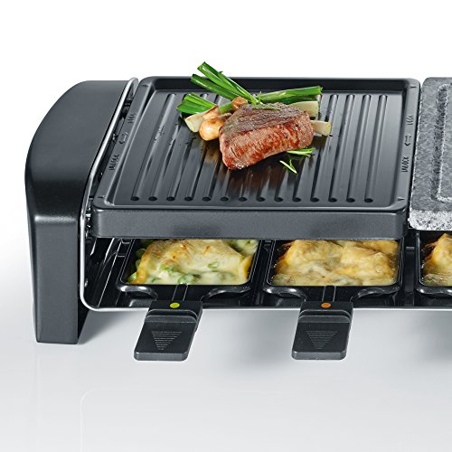 severin rg 9640 raclette grill mit naturgrillstein schwarz k chenausstattung k chenzubeh r shop. Black Bedroom Furniture Sets. Home Design Ideas