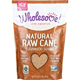 Wholesome Sweeteners Sugar - Natural Raw Cane - Turbinado - Fair Trade - 1.5 lb - case of 12 - Gluten Free -