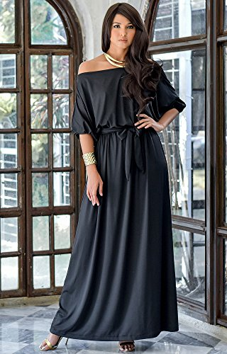 Koh Koh Plus Size Womens Long Sexy One Off The Shoulder