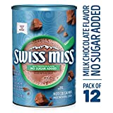 Swiss Miss Hot Cocoa Mix, Sensible Sweets, No Sugar Added, 13.8 Oz. (Pack of 12)