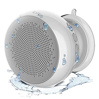 iLuv AudMini Smart Portable Water Resistant Bluetooth Speaker w/ Rechargeable Battery for Apple iPhones, Samsung Galaxy & other Bluetooth Devices