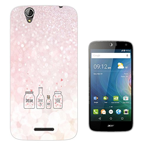 003799 - Dream Hope Life Quote Design Acer Liquid Z630 Z630S Fashion Trend CASE Gel Rubber Silicone All Edges Protection Case Cover