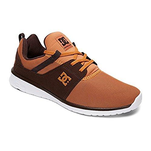 Dc Mens Heathrow Casual Skate Shoe Grano, Cioccolato Fondente