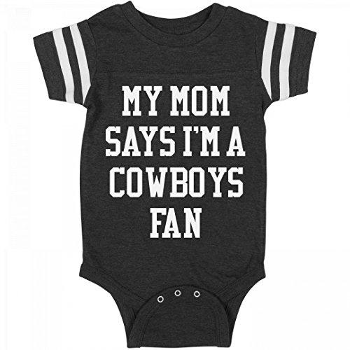 My Mom Says I'm A Cowboys Fan: Infant Rabbit Skins Football Bodysuit