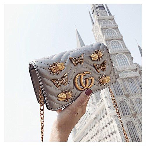Bag Bag Mama Leather Chain Bee Bag Diaper Handbags Silver CG 2018 Quilted Mini Buckle Fashion Shoulder Messenger Baby cgletter SHRJJ Bag Summer wTUx6X