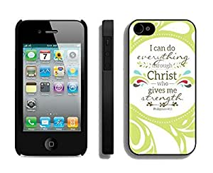 Case For HTC One M8 Cover Durable Soft Silicone PC Element Black Cell Phone Protector for HTC One M8 Christian TheBible Verse Philippians 4Durable and lightweight Cover Case