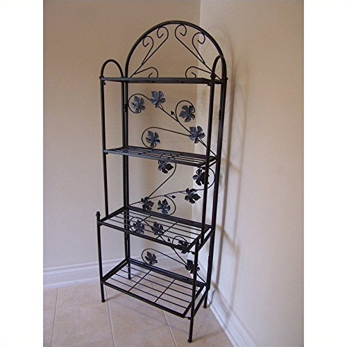 Oakland Sun Valley Bakers Rack, Black
