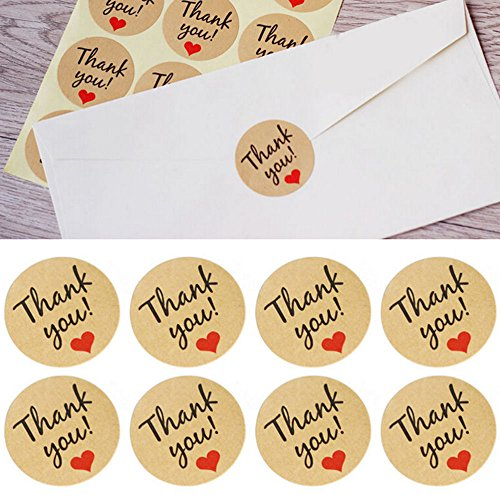 OBELLA BOUTIQUE 5 Sheets/60 Die THANK YOU Heart Design Sticker Labels Seals Gift Stationery Planner Decoration Scrapbooking Diary Stickers