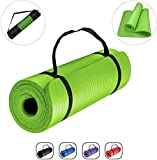 GJF Yoga Mat Thick Yoga Mat 6MM Thick Double Sided TPE Fitness Pad with Carry Bag and Strap Eco Friendly Non Slip Exercise Mat for Men Women Home Gym Pilates Meditation Stretching Size:183 X 61cm