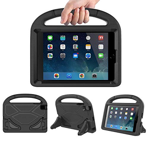 Lmaytech Kids case for iPad Mini 4 5 - Light Weight Shockproof Super Protection Portable Handle Friendly Convertible Stand Kids Case for iPad Mini 4, iPad Mini 5(2019 5th Generation), Black
