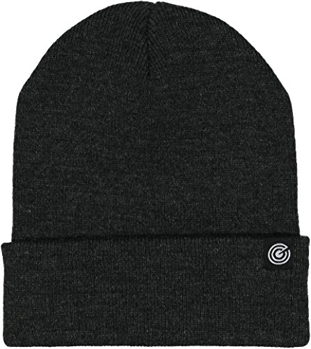 Cuff Beanie (Cuffed Beanie - Warm Daily Beanie Hat with Foldover Cuff - Stylish Winter Colors,Charcoal Grey,One Size)