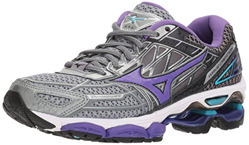 Mizuno Women's Wave Creation 19 Running Shoe, Monument/Passion Flower, 9