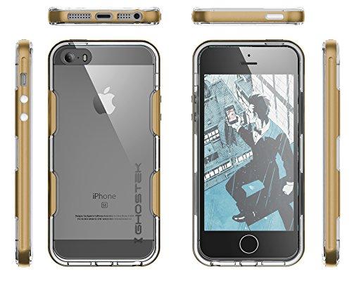 Ghostek® Handyhülle Apple iPhone 5 iPhone 5S iPhone SE [+Schutzfolie+Alurahmen] Case Tasche Faceplate Schutz Hardcover Schale - [+Schutzfolie+Alurahmen] Case Tasche Faceplate Schutz Hardcover Schale C