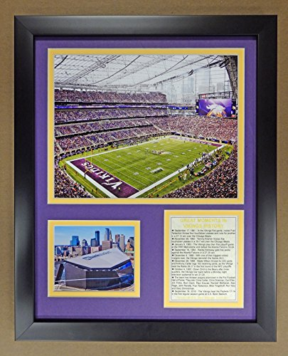 "Legends Never Die NFL Minnesota Vikings US Bank Stadium Double Matted Photo Frame, 12"" x 15"""