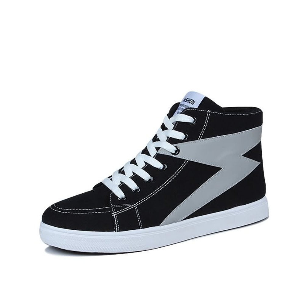 Las Zapatillas de Deporte de la Moda de los Hombres Son Casuales y de Alta Gama Top Color Bump Hop en Zapatillas de Deporte de Hip-Hop 41 EU|Black And Gray
