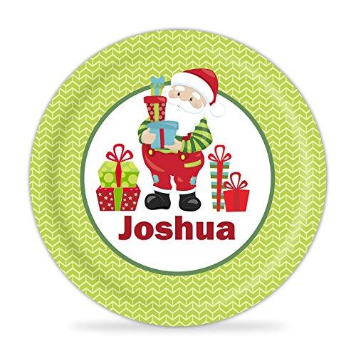 Santa Plate - Santa Christmas Kids Melamine Personalized Plate