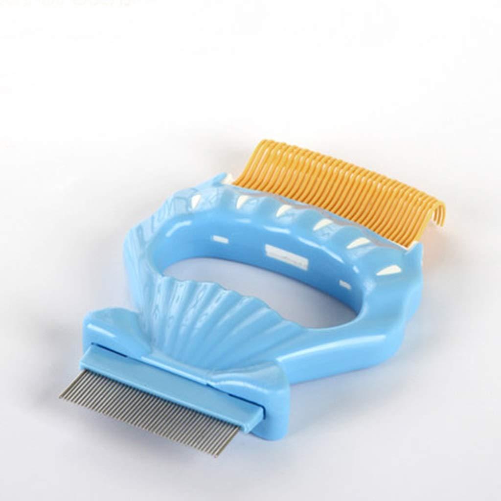 ZHPRZD Pet Brush Pet Dog Comb Shell Comb Cat Dog Hair Brush Bristle Comb (Color : Yellow)