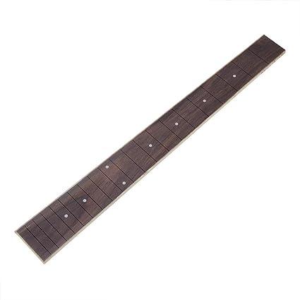 Guitarra acústica teclado de palisandro del cuello de la guitarra sustitución teclado guitarra de DIY accesorios para 41 pulgadas 20 teclas guitarra acústica M01311: Amazon.es: Instrumentos musicales