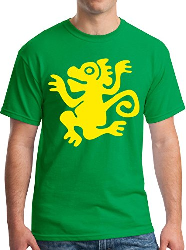 Legends of the Hidden Temple Monkey 90s Kids TV Show Group adult T-Shirt M Green