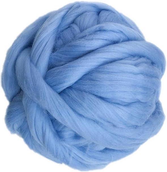 Spinning Giant Knitting Waldorf homeschool Supplies 1 lbs Aqua Merino Wool Top Blue Felting Wool Sustainable Wool Natural Materials