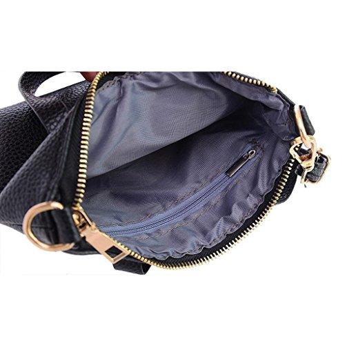 Covermason Damen Mädchen Schultertasche Handtaschen Unterarmtasche Kupplung Tasche Groß Tote (Schwarz)