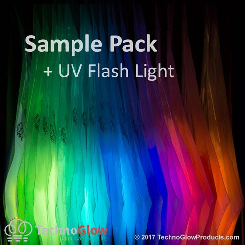 - Glow in the Dark & UV Reactive Powder - Multipurpose PRO-Series (Sample Pack, 21 X 10 Grams)